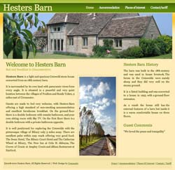 Hesters Barn, an example of our Cirencester Website Design services